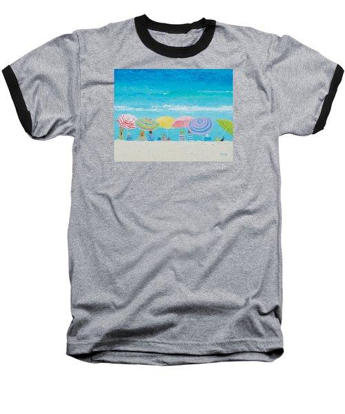 Beach Painting - Color Of Summer Baseball T-Shirt by Jan Matson