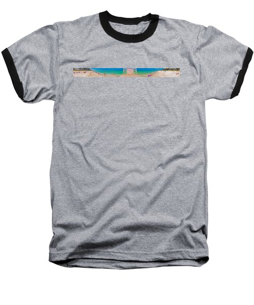 Beach Panorama Baseball T-Shirt