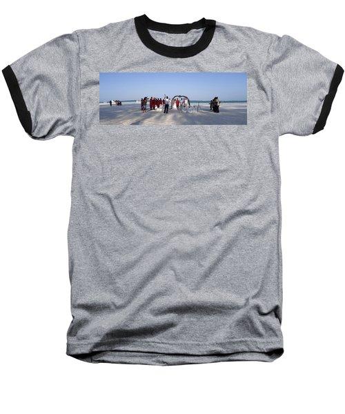 Beach Panoramic Wedding  Baseball T-Shirt