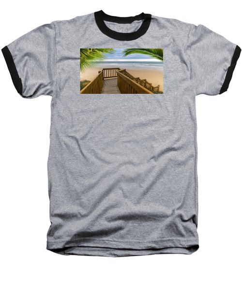 Baseball T-Shirt featuring the photograph Beach Paradise 001 by Kevin Chippindall