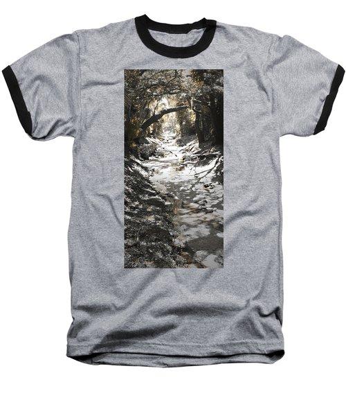 Baseball T-Shirt featuring the photograph  Beach Park Storm Drain by Steve Sperry