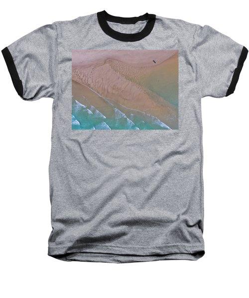 Beach Patterns At North Point On Moreton Island Baseball T-Shirt