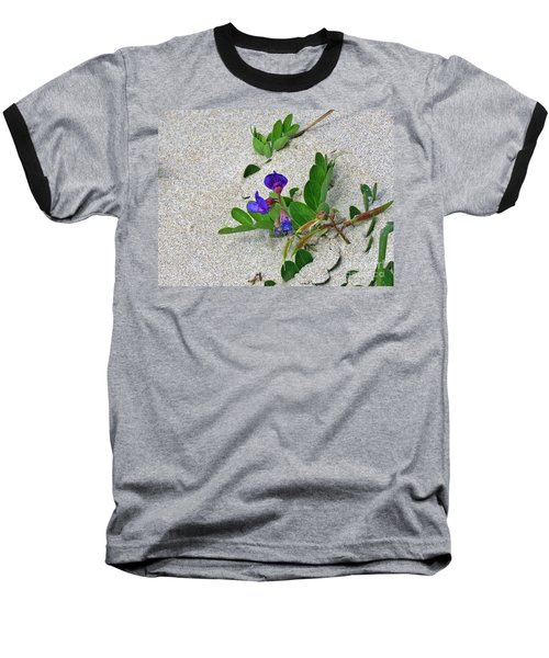 Baseball T-Shirt featuring the photograph Beach Pea Vine by Michele Penner