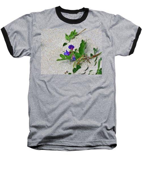 Beach Pea Vine Baseball T-Shirt by Michele Penner