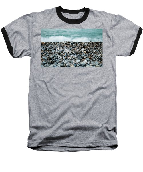 Baseball T-Shirt featuring the photograph Beach Pebbles by MGL Meiklejohn Graphics Licensing