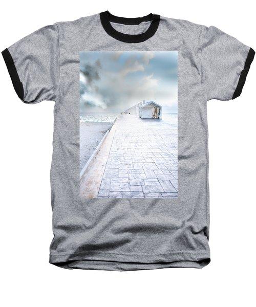 Beach Pier Baseball T-Shirt