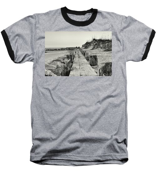 Beach Pilings Baseball T-Shirt