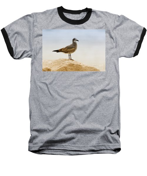 Baseball T-Shirt featuring the photograph Beach Pose by Deborah Benoit