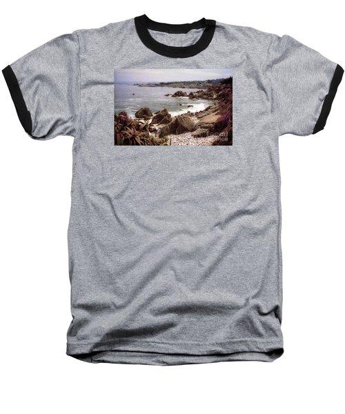 Beach Rock Ocean Waves Baseball T-Shirt