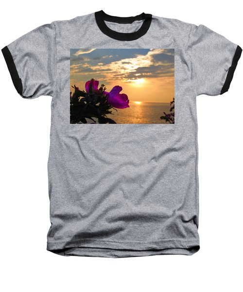 Beach Roses Baseball T-Shirt