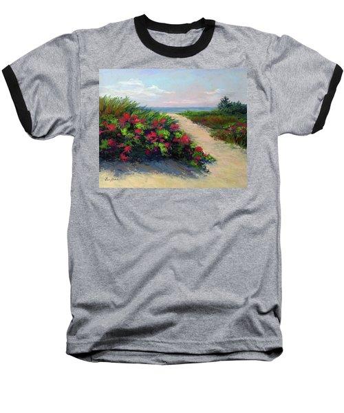 Beach Roses Baseball T-Shirt