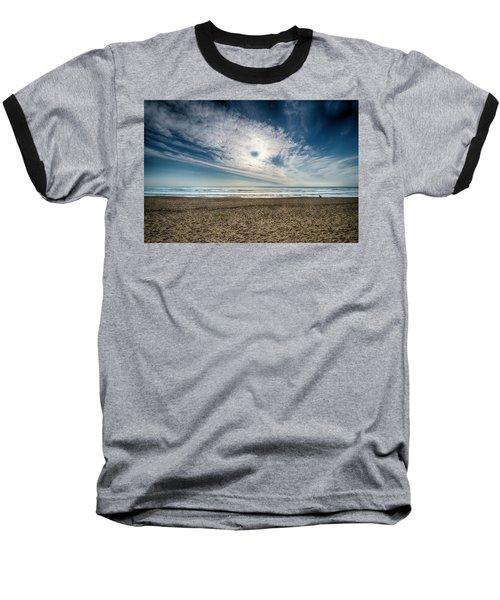 Beach Sand With Clouds - Spiagggia Di Sabbia Con Nuvole Baseball T-Shirt