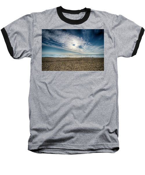 Beach Sand With Clouds - Spiagggia Di Sabbia Con Nuvole Baseball T-Shirt