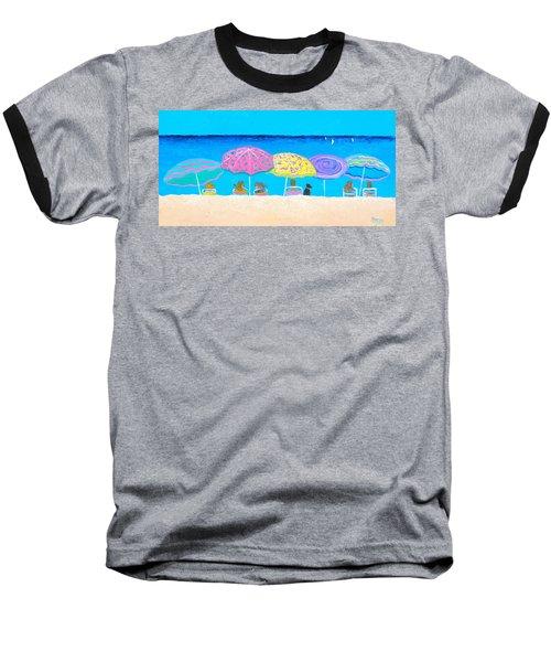 Beach Sands Perfect Tans Baseball T-Shirt by Jan Matson