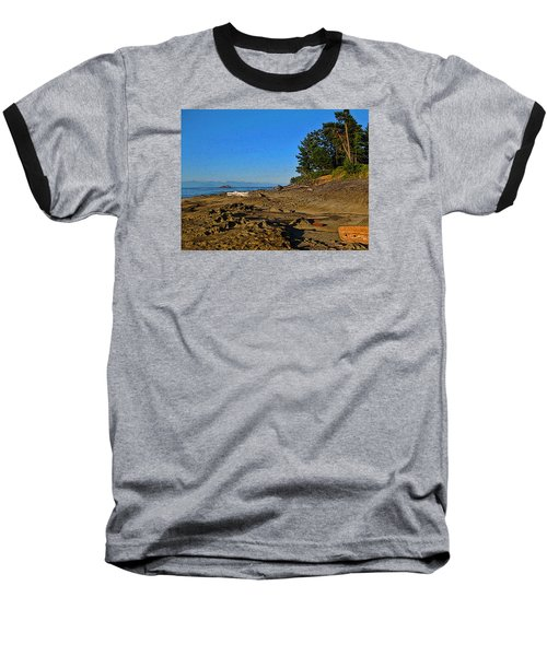 Beach Scene, Berry Point, Gabriola, Bc Baseball T-Shirt by Anne Havard