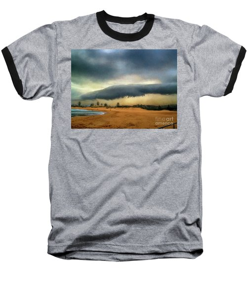 Baseball T-Shirt featuring the photograph Beach Storm At Sunset By Kaye Menner by Kaye Menner