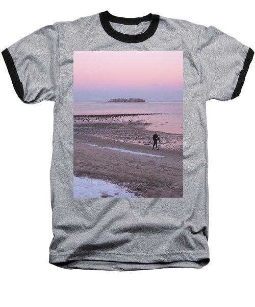 Beach Stroll Baseball T-Shirt by John Scates
