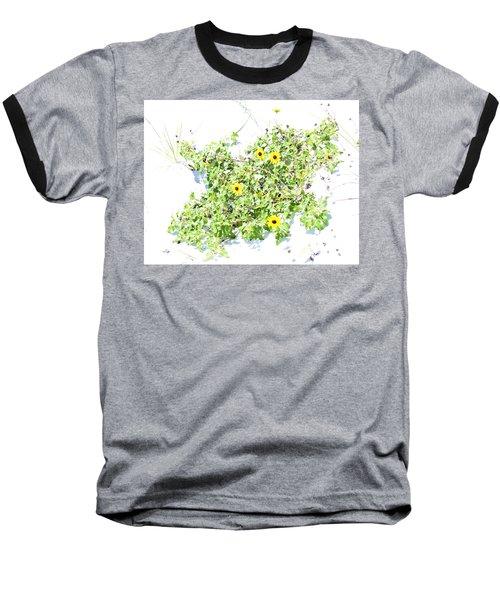 Beach Sun Flowers Baseball T-Shirt