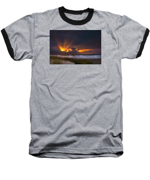 Beach Sunrise Baseball T-Shirt