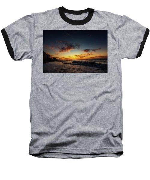 Beach Sunrise Baseball T-Shirt
