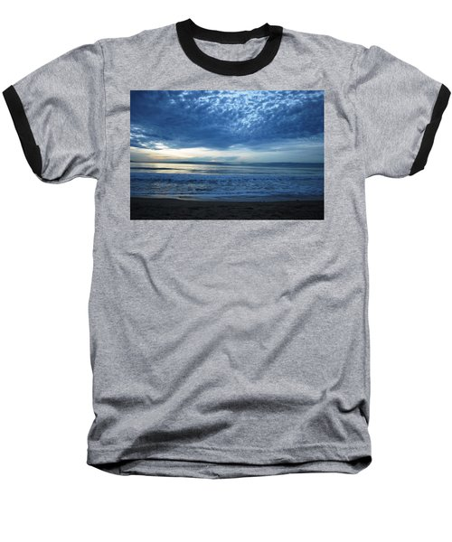 Beach Sunset - Blue Clouds Baseball T-Shirt