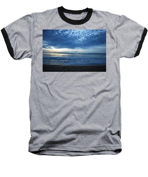 Beach Sunset - Blue Clouds Baseball T-Shirt