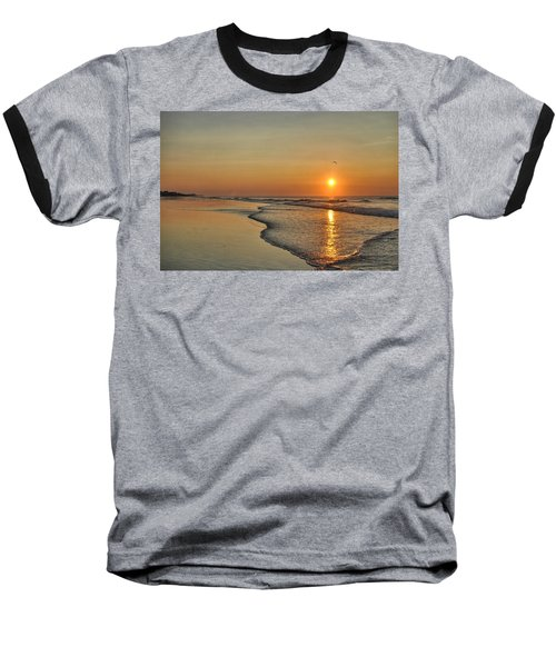 Topsail Nc Beach Sunrise Baseball T-Shirt