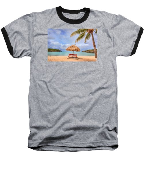 Beach Time Baseball T-Shirt by Nadia Sanowar
