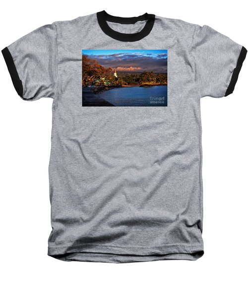 Beach Town Of Kailua-kona On The Big Island Of Hawaii Baseball T-Shirt by Sam Antonio Photography
