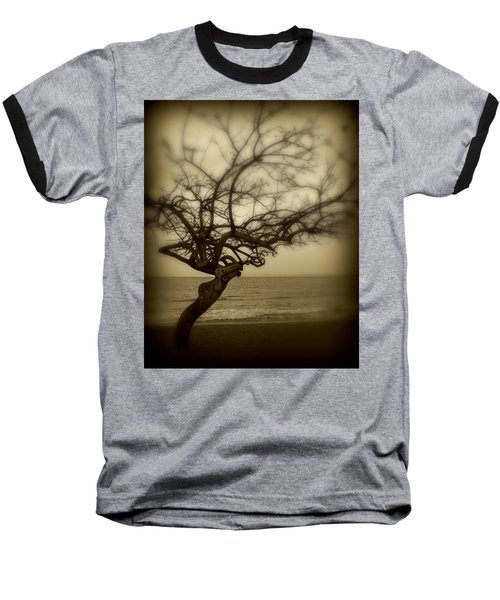 Beach Tree Baseball T-Shirt by Perry Webster