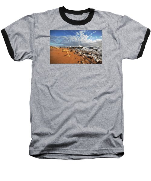 Beach View Baseball T-Shirt by Robert Och
