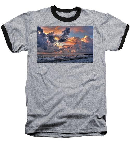 Beach Walk - Florida Seascape Baseball T-Shirt