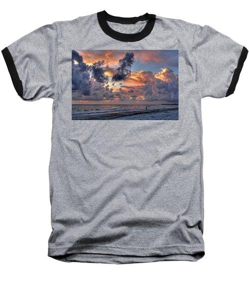 Beach Walk - Florida Seascape Baseball T-Shirt