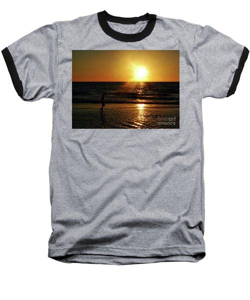 Baseball T-Shirt featuring the photograph Beach Walking by Gary Wonning