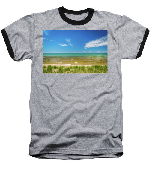 Beach With Blue Skies And Cloud Baseball T-Shirt
