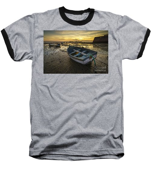 Beached Boat On La Caleta Cadiz Spain Baseball T-Shirt