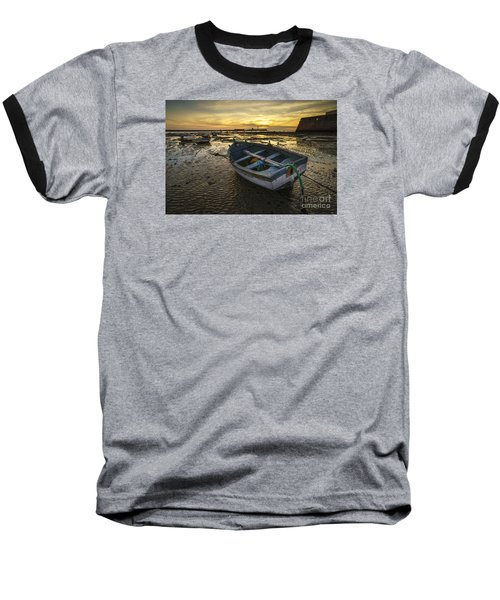 Beached Boat On La Caleta Cadiz Spain Baseball T-Shirt