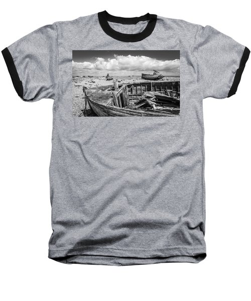 Beached Boats. Baseball T-Shirt