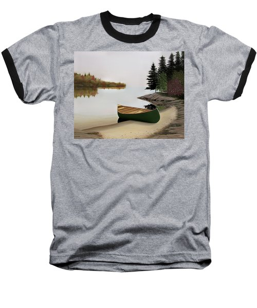 Beached Canoe In Muskoka Baseball T-Shirt by Kenneth M  Kirsch