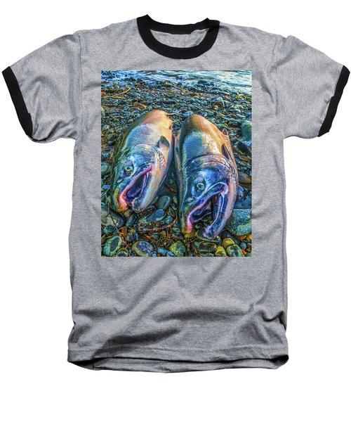 Beached Coho Baseball T-Shirt