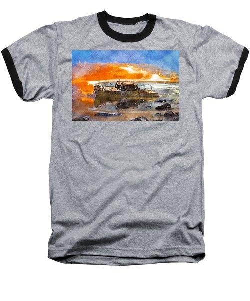 Beached Wreck Baseball T-Shirt