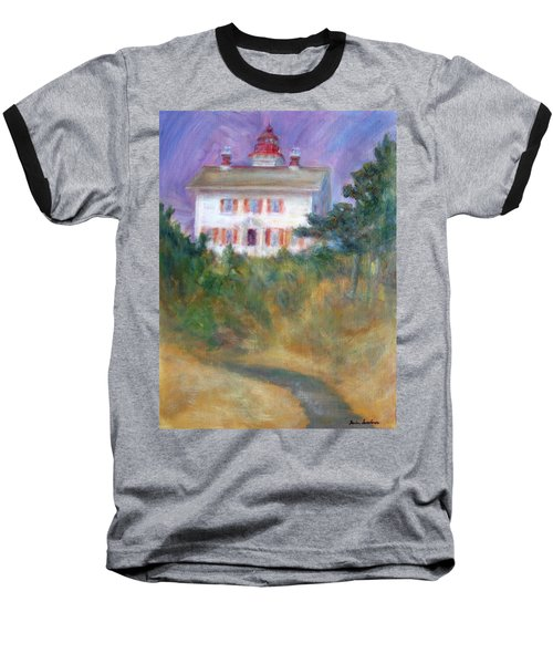Beacon On The Hill - Lighthouse Painting Baseball T-Shirt