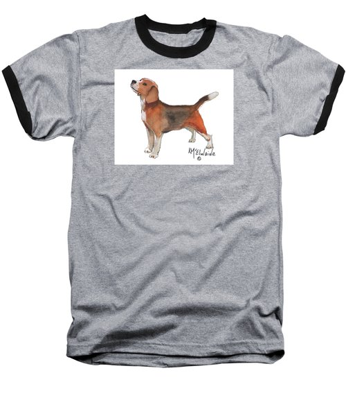 Beagle Watercolor Painting By Kmcelwaine Baseball T-Shirt