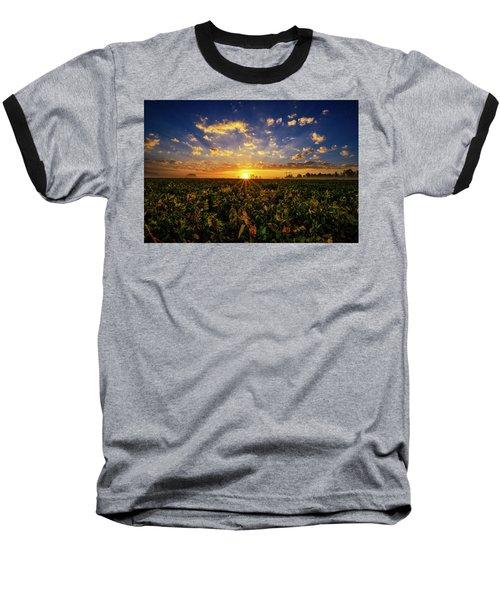Bean Field Dawn Baseball T-Shirt