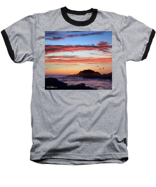 Bean Hollow Beach Baseball T-Shirt by Tim Fitzharris