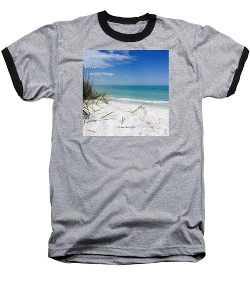 Bean Point, Anna Maria Island Baseball T-Shirt by Jean Marie Maggi