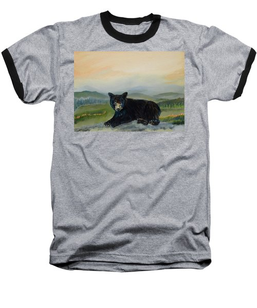 Bear Alone On Blue Ridge Mountain Baseball T-Shirt
