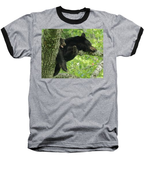 Bear And Cub In Tree Baseball T-Shirt