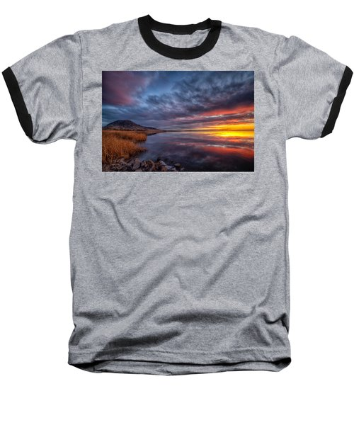 Bear Butte Lake Sunrise Baseball T-Shirt