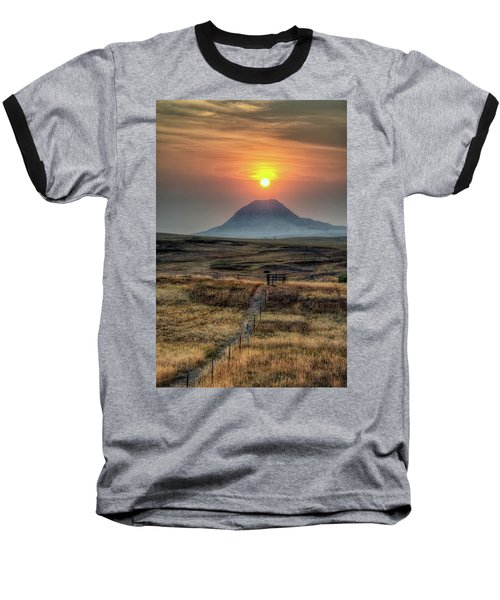Bear Butte Smoke Baseball T-Shirt